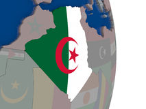 Algeria with its flag Stock Photography