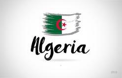 algeria kraju flaga pojęcie z grunge projekta ikony logem ilustracja wektor