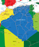 Algeria map. Highly detailed vector map of Algeria  with administrative regions, main cities and roads Stock Image