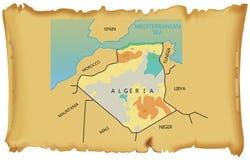 algeria mapa royalty ilustracja