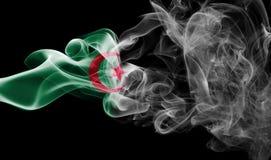 Algeria national smoke flag. Algeria smoke flag isolated on a black background Royalty Free Stock Photos