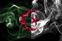 Algeria national smoke flag on a black background. Algeria smoke flag on a black background royalty free stock photo