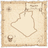Algeria old pirate map. Royalty Free Stock Photo
