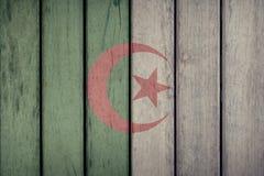 Algeria Flag Wooden Fence. Algeria Politics News Concept: Algerian Flag Wooden Fence stock photos