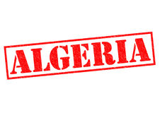 ALGERIA. Rubber Stamp over a white background Royalty Free Stock Images