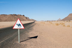 Algeria Sahara desert landscape Royalty Free Stock Photos