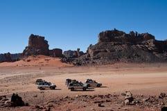 Algeria Sahara mountains landscape Royalty Free Stock Images