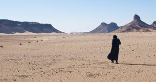 Algeria Sahara tuareg. Algeria Sahara desert tuareg solitude Stock Photography
