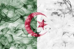 Algeria smoke flag. Isolated on a white background Stock Images