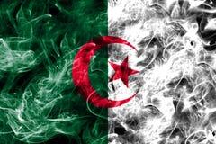 Algeria smoke flag isolated on a black background.  Stock Photo