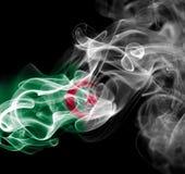 Algeria national smoke flag. Algeria smoke flag isolated on black background Royalty Free Stock Photo