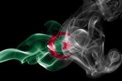 Algeria national smoke flag. Algeria smoke flag isolated on black background Royalty Free Stock Images