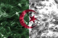 Algeria smoke flag. Isolated on a black background Stock Photography