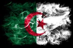 Algeria smoke flag on a white background.  stock photo