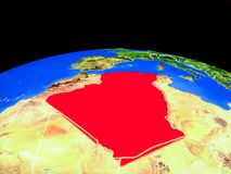 Algeria from space on Earth vector illustration