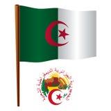 Algeria wavy flag Stock Image