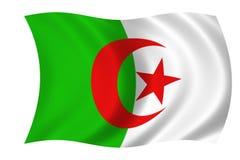 Algerian flag. Waving algerian flag Stock Illustration