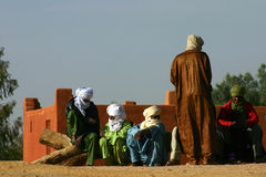 Algerian People of the desert Royalty Free Stock Photos