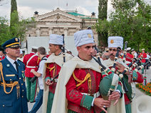 Algerian president's guardians orchestra musician Royalty Free Stock Photography
