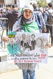 Students protesting against president Bouteflika in Algiers tuesday march 26th 2019 stock photo