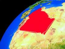 Algerien auf Erde vom Raum lizenzfreie abbildung