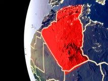 Algerien auf Kugel vom Raum lizenzfreie abbildung