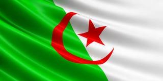 Algerien-Flagge, die im Wind flattert Stock Abbildung