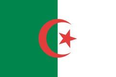 Algerien-Markierungsfahne Lizenzfreie Stockbilder