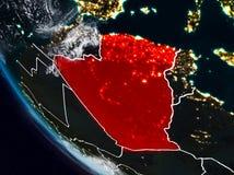 Algerien nachts vom Raum lizenzfreie abbildung