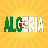 Algeriet flaggatext med sunburstillustrationen royaltyfri illustrationer