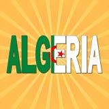 Algeriet flaggatext med sunburstillustrationen vektor illustrationer