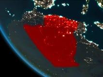 Algerije bij nacht van baan Stock Afbeeldingen