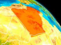 Algerije ter wereld royalty-vrije illustratie