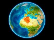 Algerije ter wereld van ruimte royalty-vrije illustratie