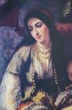 Algerisk kvinna - målning som skapas i 1860 Royaltyfri Foto