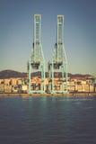 ALGESIRAS, SPANIEN - MAI 1,2013: Containerbahnhof im industr Lizenzfreies Stockfoto