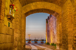 Alghero (Σαρδηνία) τη νύχτα Στοκ Φωτογραφίες