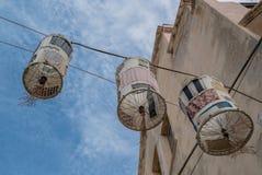Alghero Италия центра города Latern Сардинии историческое стоковые изображения rf