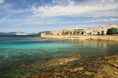 Alghero морем Стоковые Фото