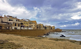 Alghero. Part of the old town of Alghero Stock Image