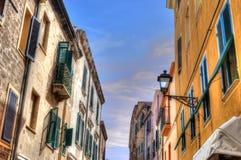 Alghero byggnader fotografering för bildbyråer