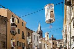 Alghero city in Sardinia, Italy. Alghero city in Sassari Province, Sardinia, Italy stock photo