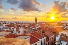 Alghero city, Sardinia. A sunset over Alghero city, Sardinia Royalty Free Stock Images