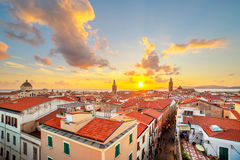 Alghero city, Sardinia. A sunset over Alghero city, Sardinia Stock Image