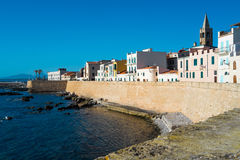 Alghero. Downtown Alghero in Sardinia, Italy Stock Photography