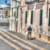 Alghero en le vélo Images libres de droits
