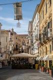 Alghero histórico Italia da cidade de Latern sardinia para baixo imagem de stock royalty free