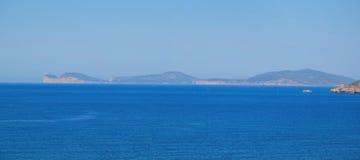 Alghero-Küstenlinienpanorama - Sardinien, Italien Stockfotos
