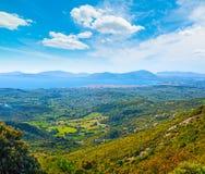Alghero linia brzegowa widzieć od above Zdjęcia Royalty Free