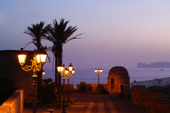 Alghero in night. Stock Images